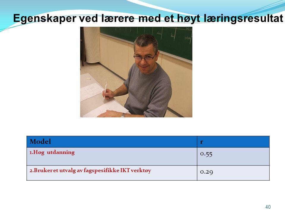 Egenskaper ved lærere med et høyt læringsresultat
