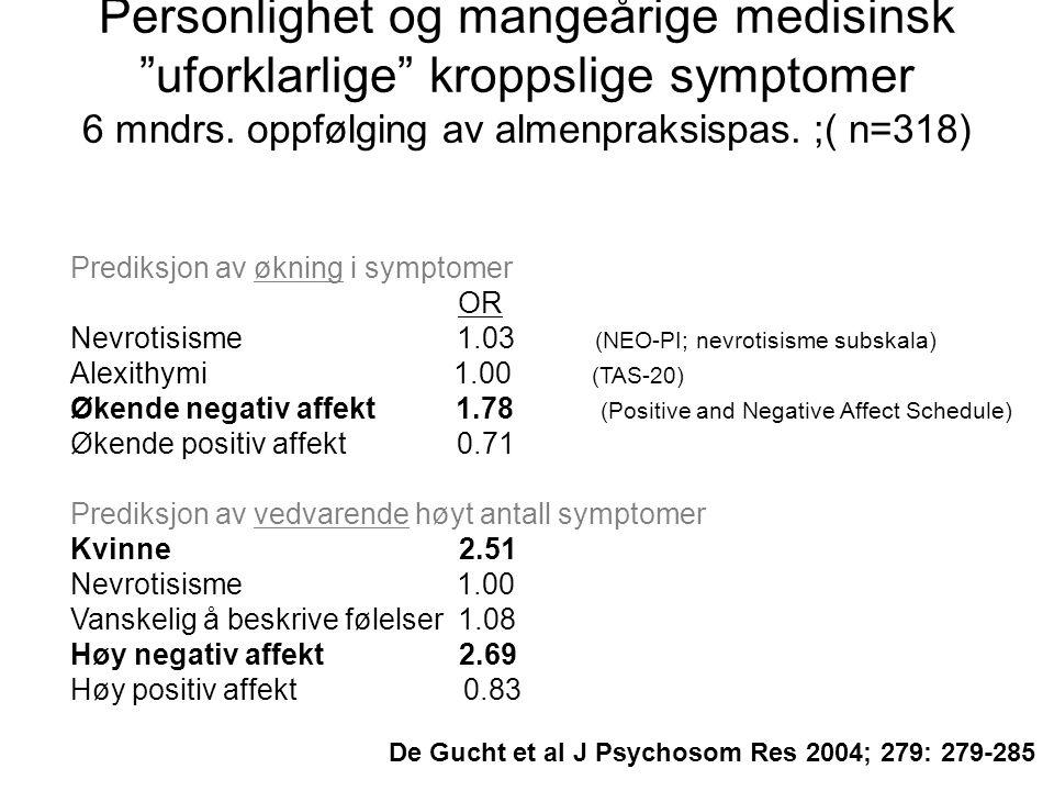 De Gucht et al J Psychosom Res 2004; 279: 279-285
