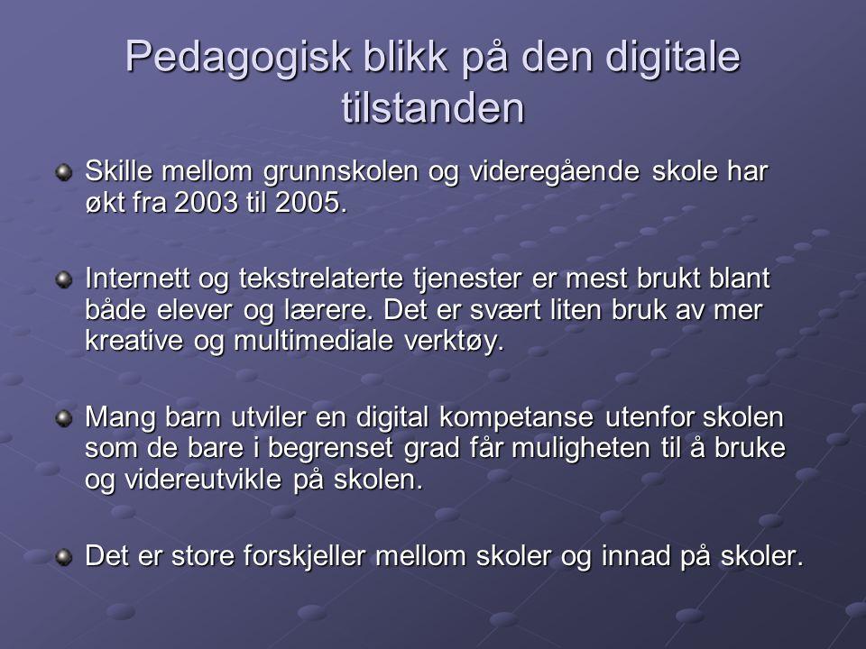 Pedagogisk blikk på den digitale tilstanden