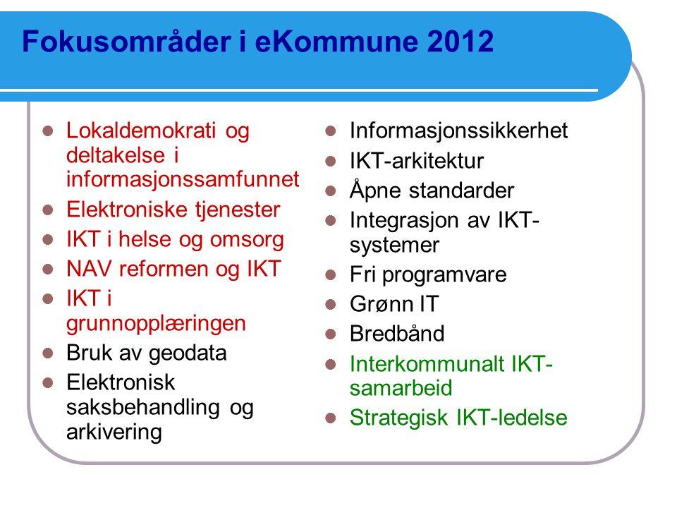 Fokusområder i eKommune 2012
