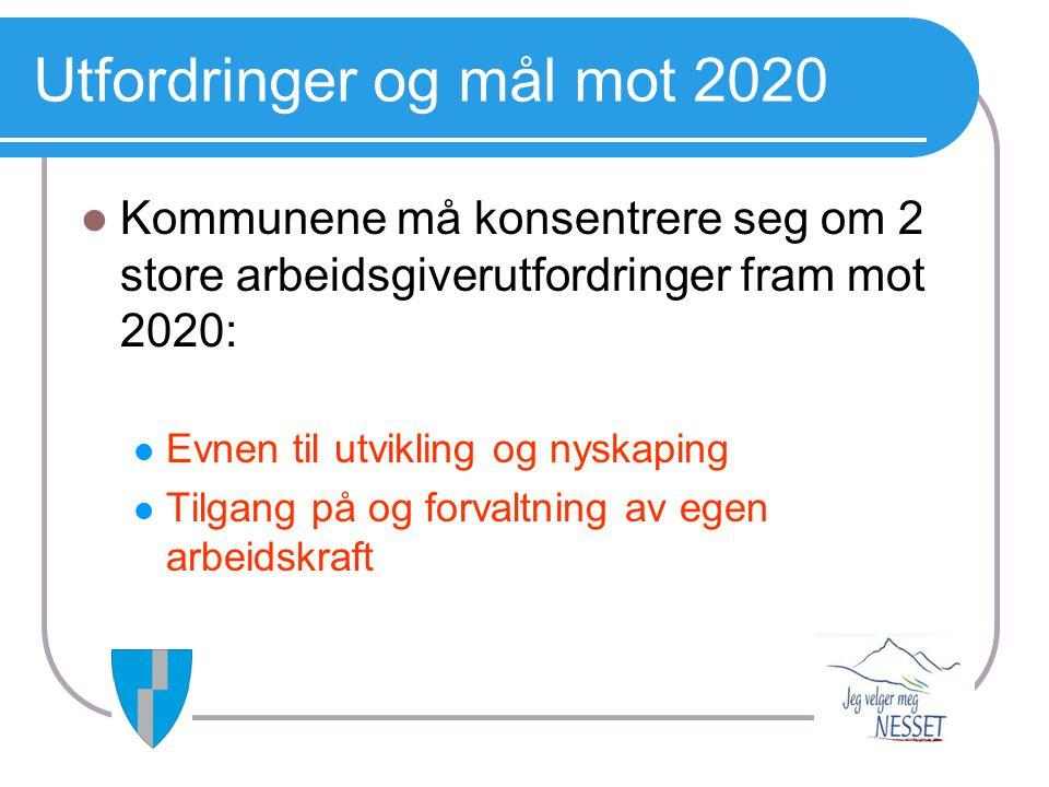 Utfordringer og mål mot 2020