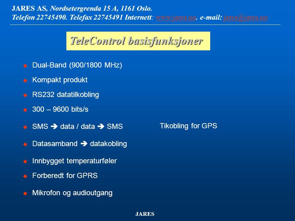 TeleControl basisfunksjoner