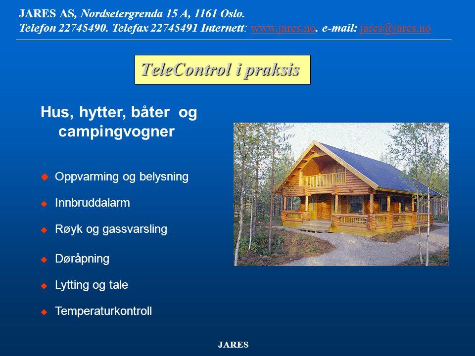 TeleControl i praksis Hus, hytter, båter og campingvogner