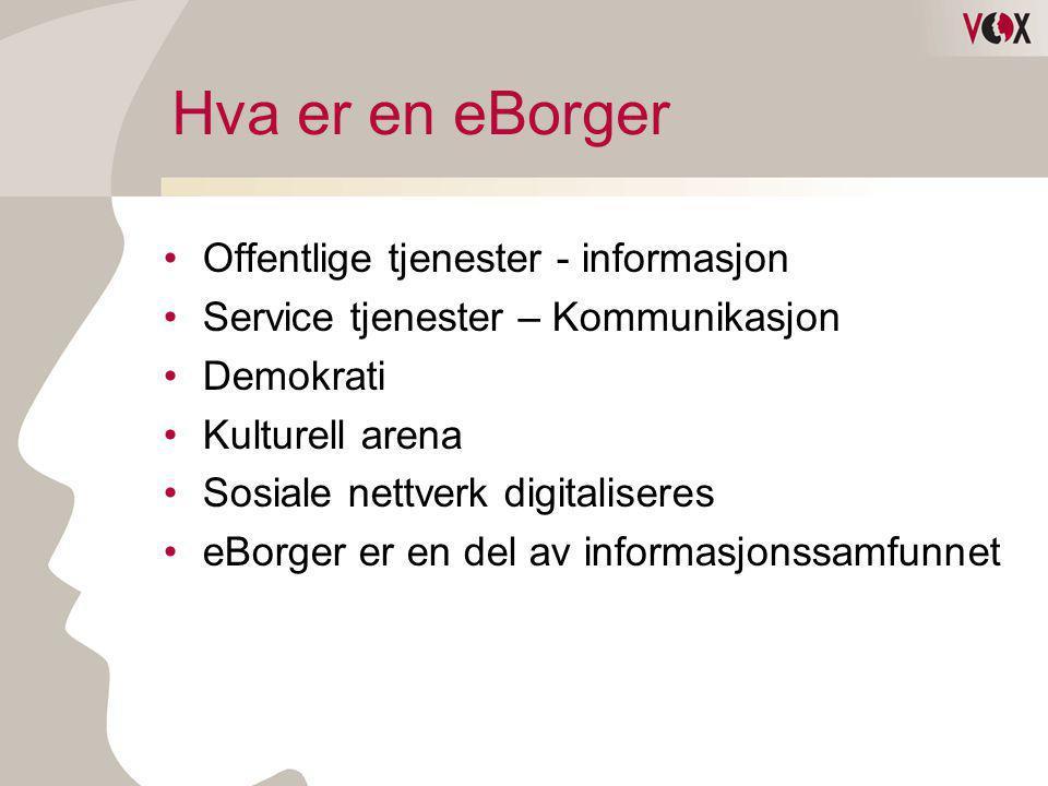 Hva er en eBorger Offentlige tjenester - informasjon