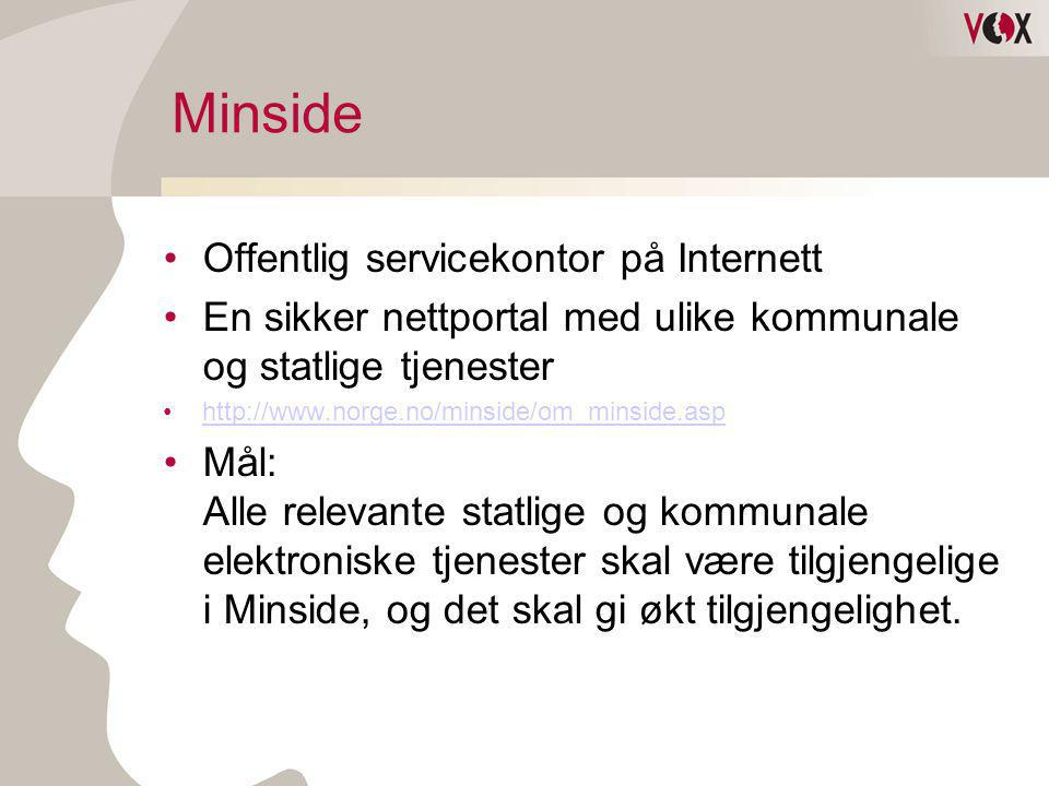 Minside Offentlig servicekontor på Internett