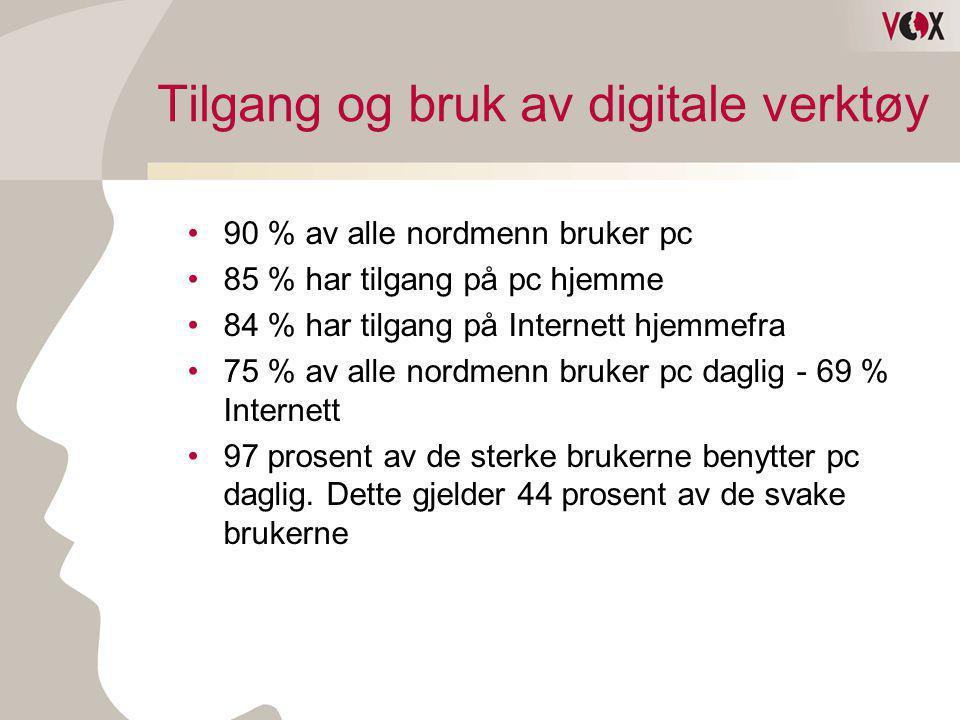 Tilgang og bruk av digitale verktøy