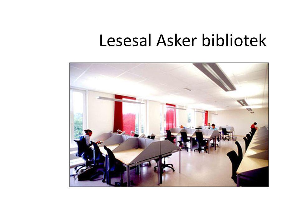 Lesesal Asker bibliotek