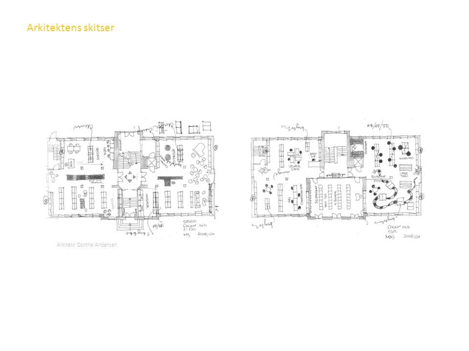 Arkitektens skitser Dette er arkitektenes tegninger som ble sendt oss