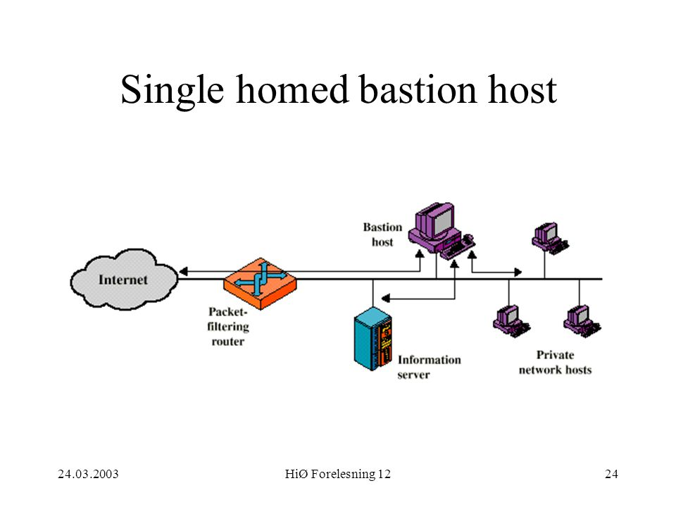 Single homed bastion host