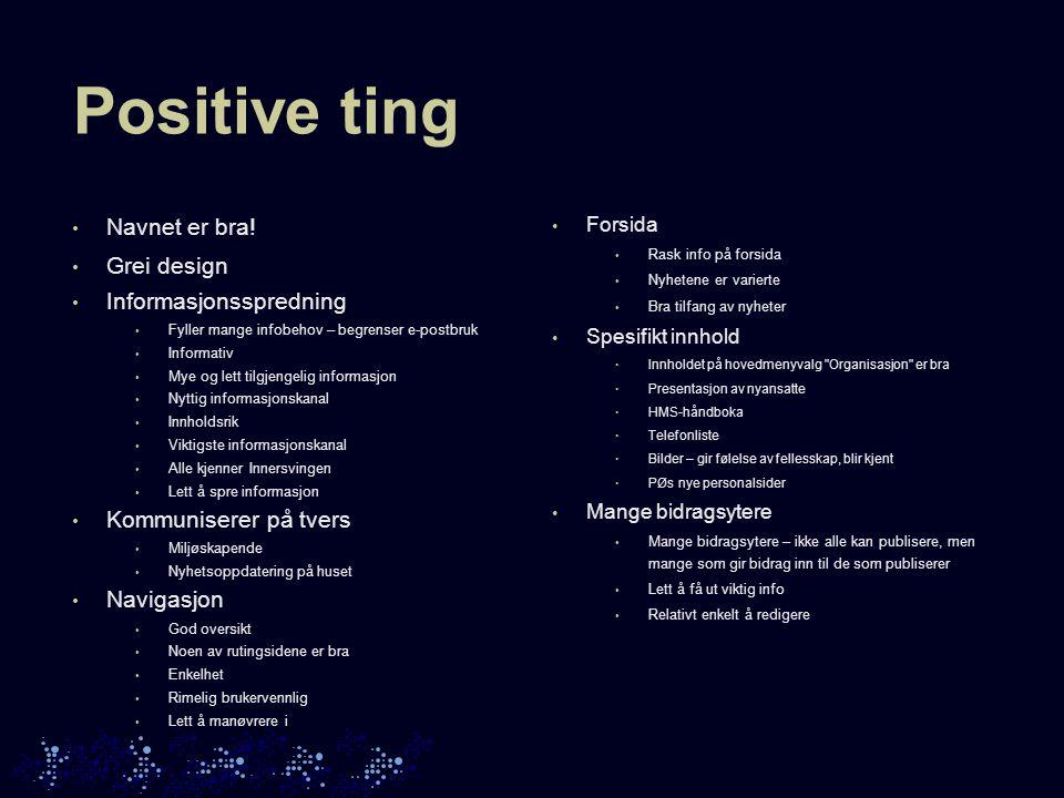 Negative ting Innhold Navigasjon Design Publisering