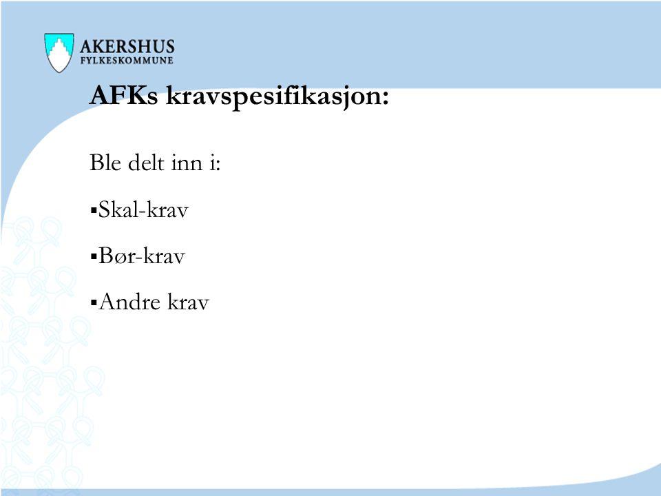AFKs kravspesifikasjon: