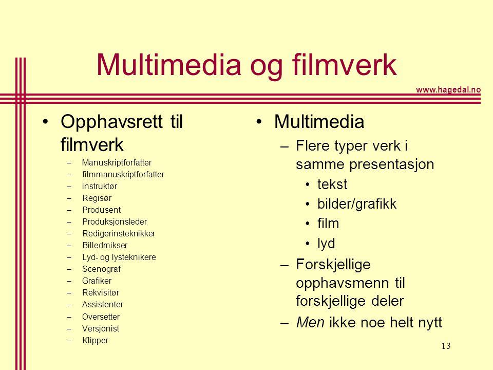 Multimedia og filmverk