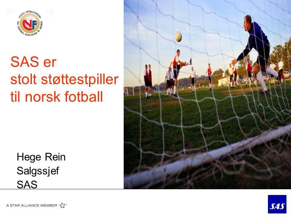 SAS er stolt støttestpiller til norsk fotball