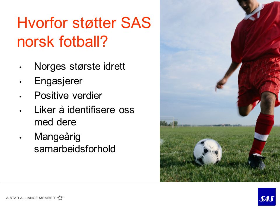 Hvorfor støtter SAS norsk fotball