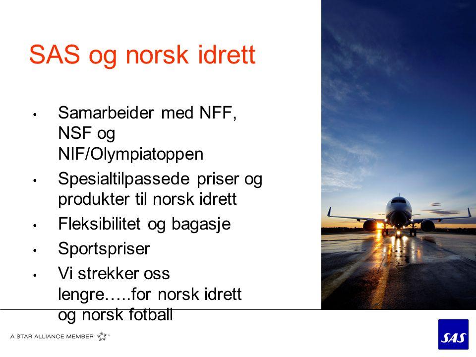 SAS og norsk idrett Samarbeider med NFF, NSF og NIF/Olympiatoppen