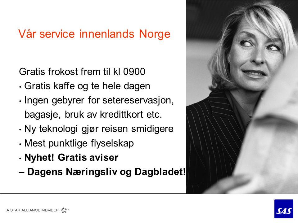 Vår service innenlands Norge