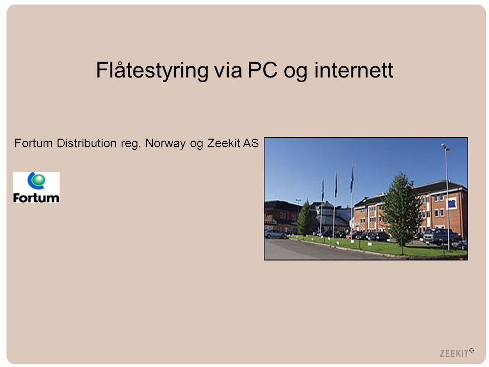 Flåtestyring via PC og internett