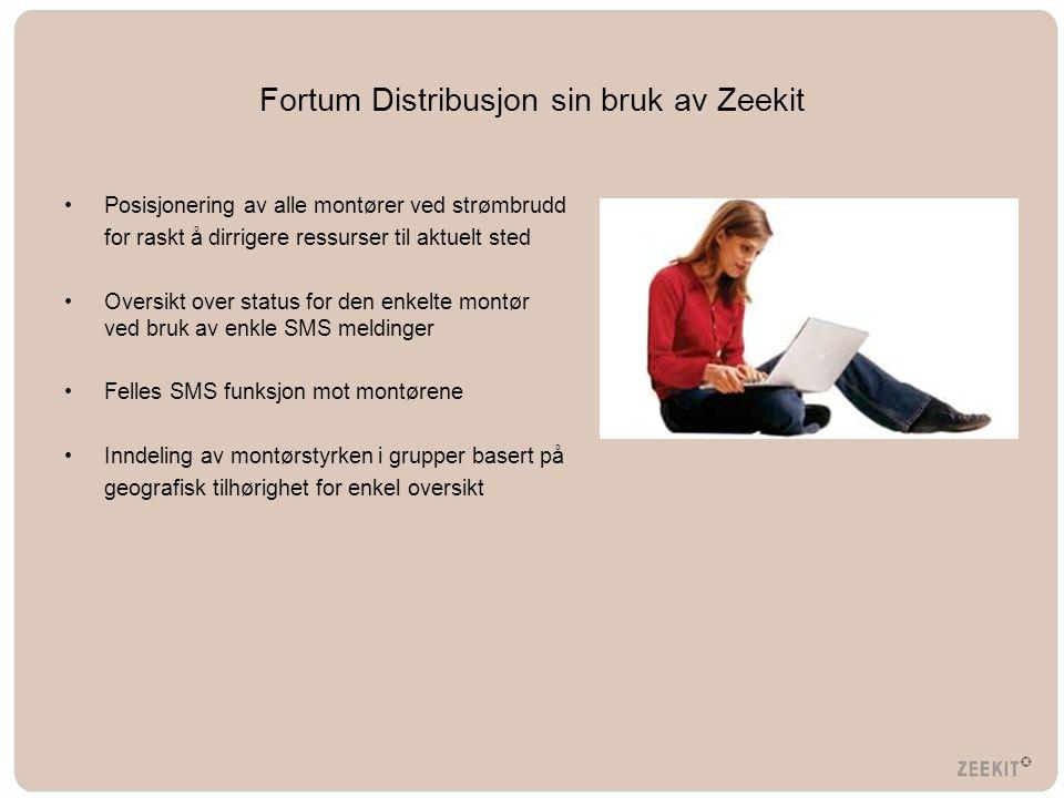Fortum Distribusjon sin bruk av Zeekit