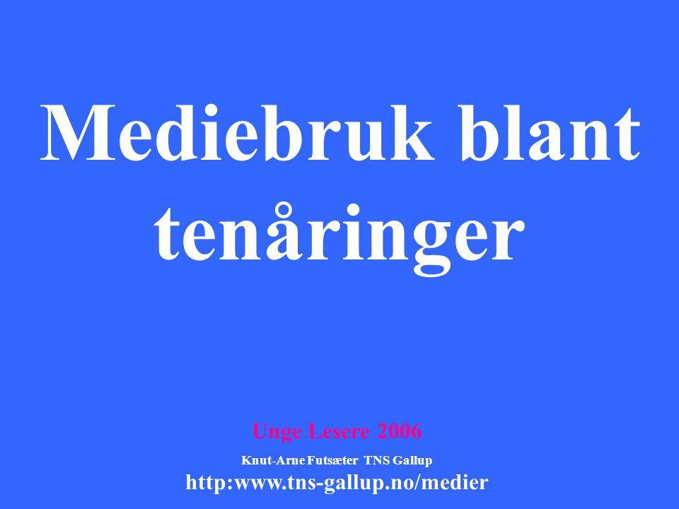 Mediebruk blant tenåringer Knut-Arne Futsæter TNS Gallup