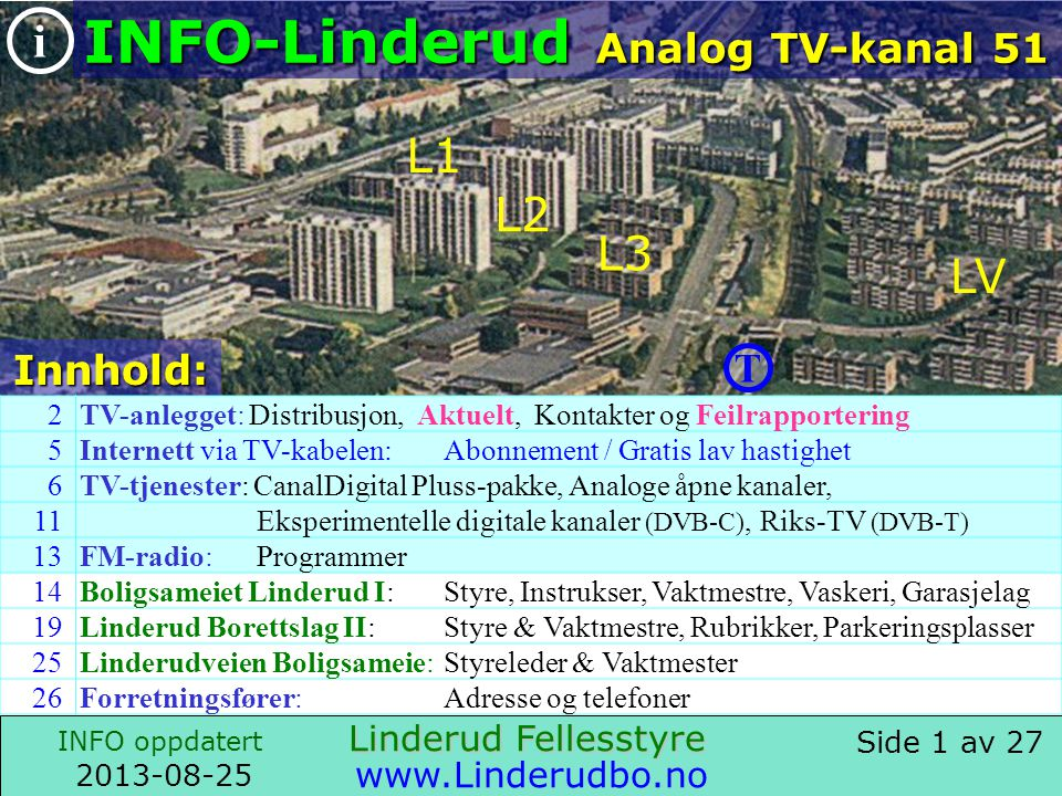 INFO-Linderud Analog TV-kanal 51