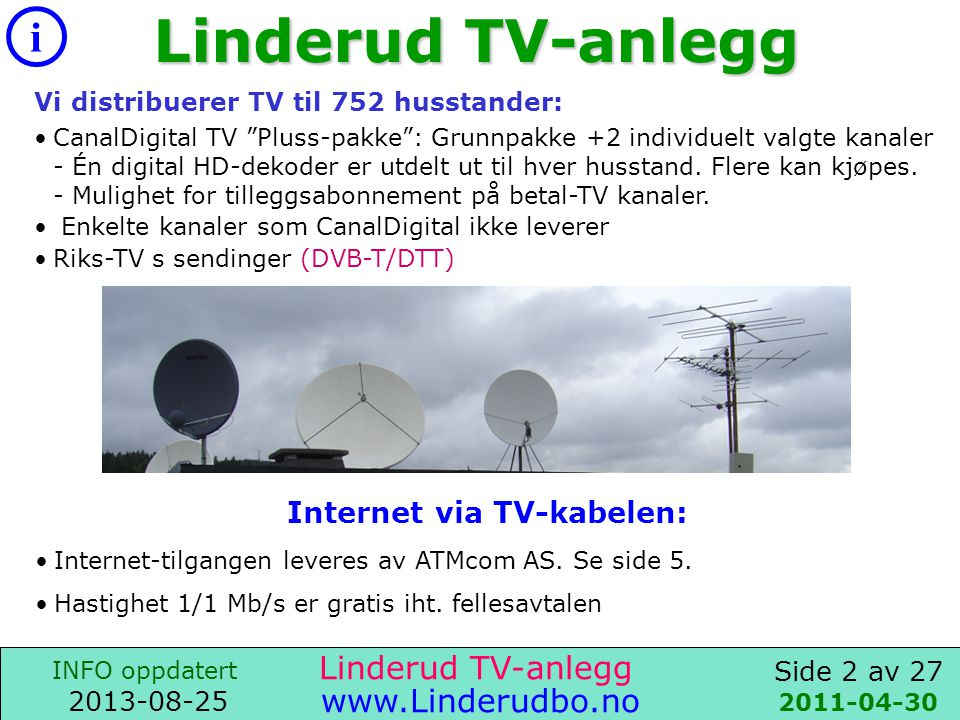 Internet via TV-kabelen: