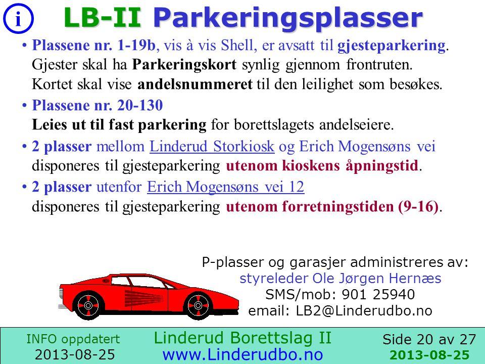 LB-II Parkeringsplasser