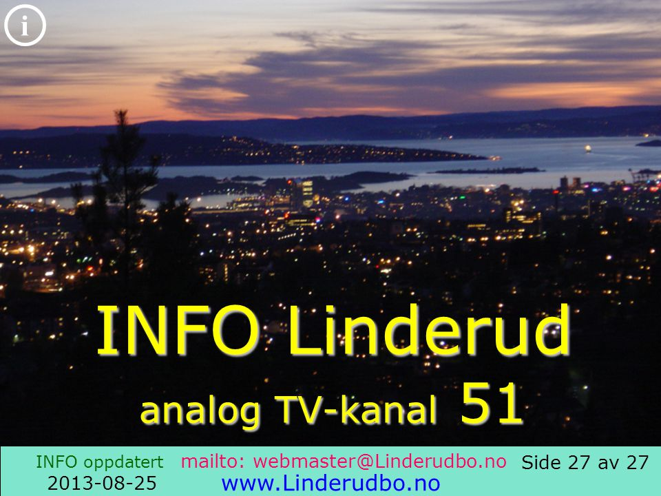 INFO Linderud analog TV-kanal 51