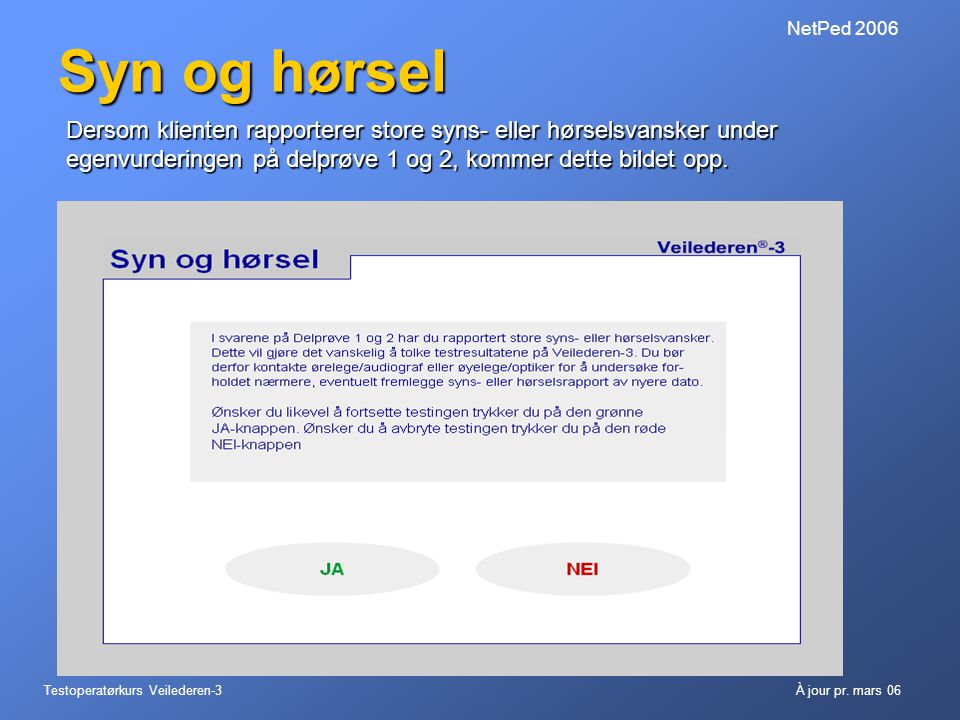 NetPed 2006 Syn og hørsel.