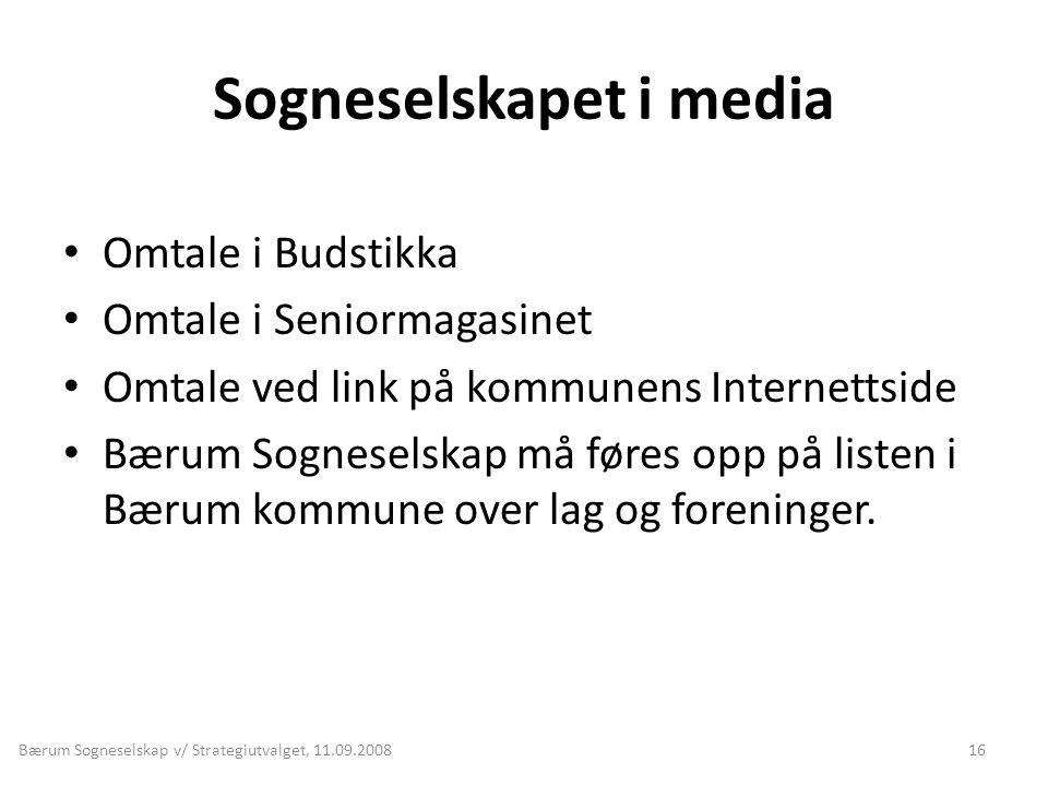 Sogneselskapet i media