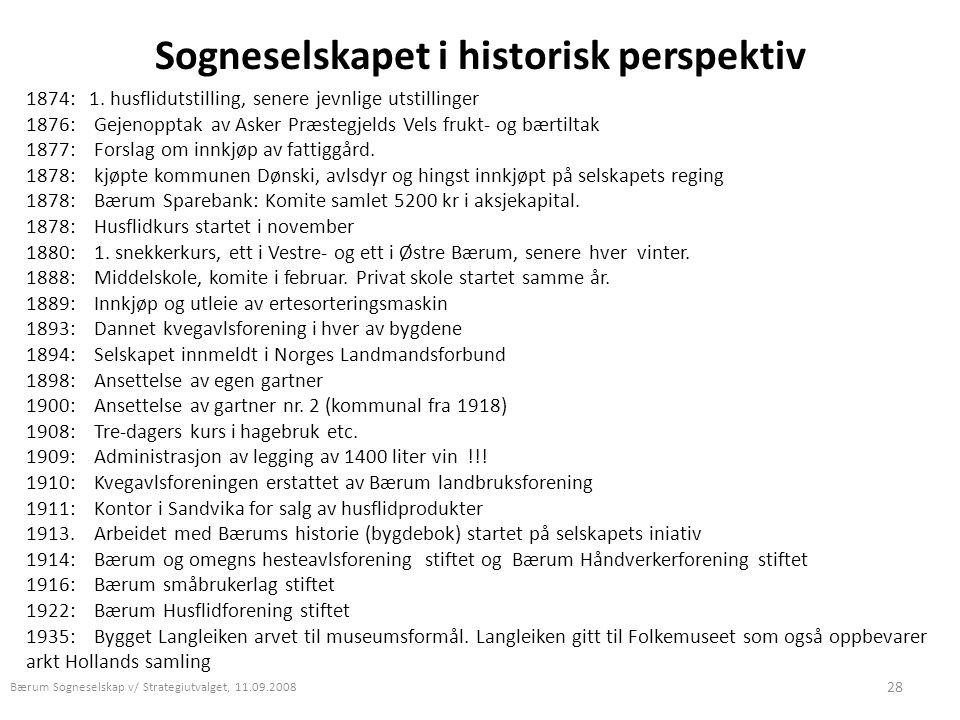 Sogneselskapet i historisk perspektiv