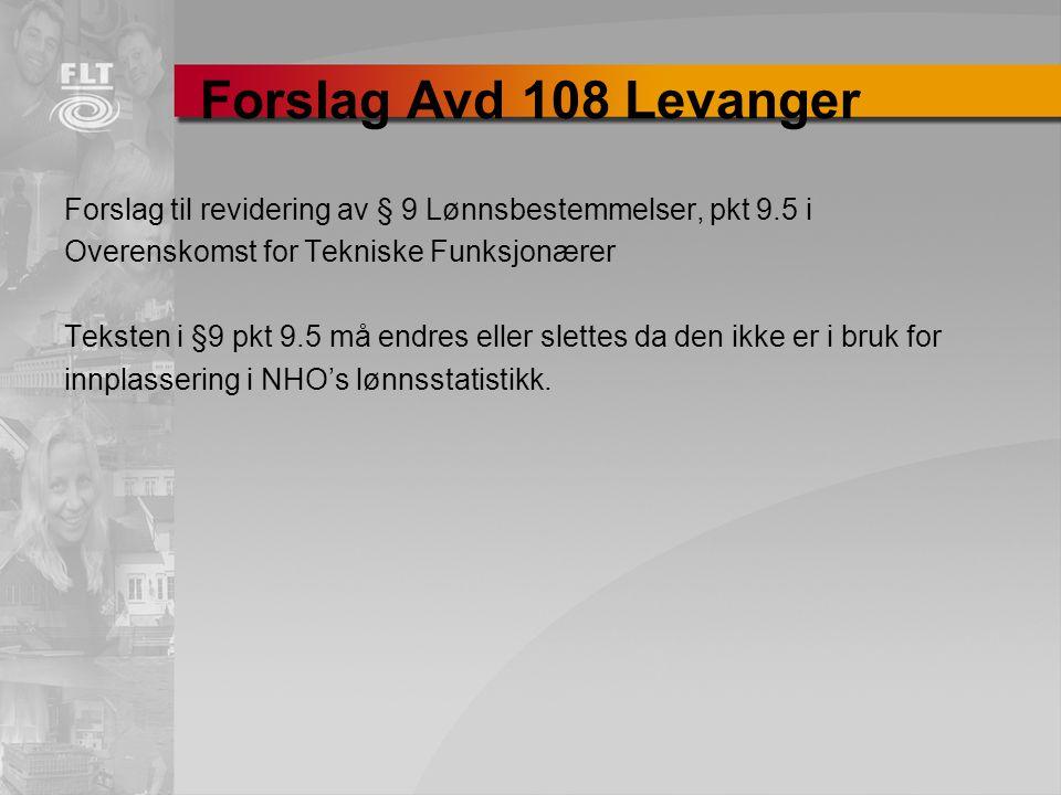 Forslag Avd 108 Levanger