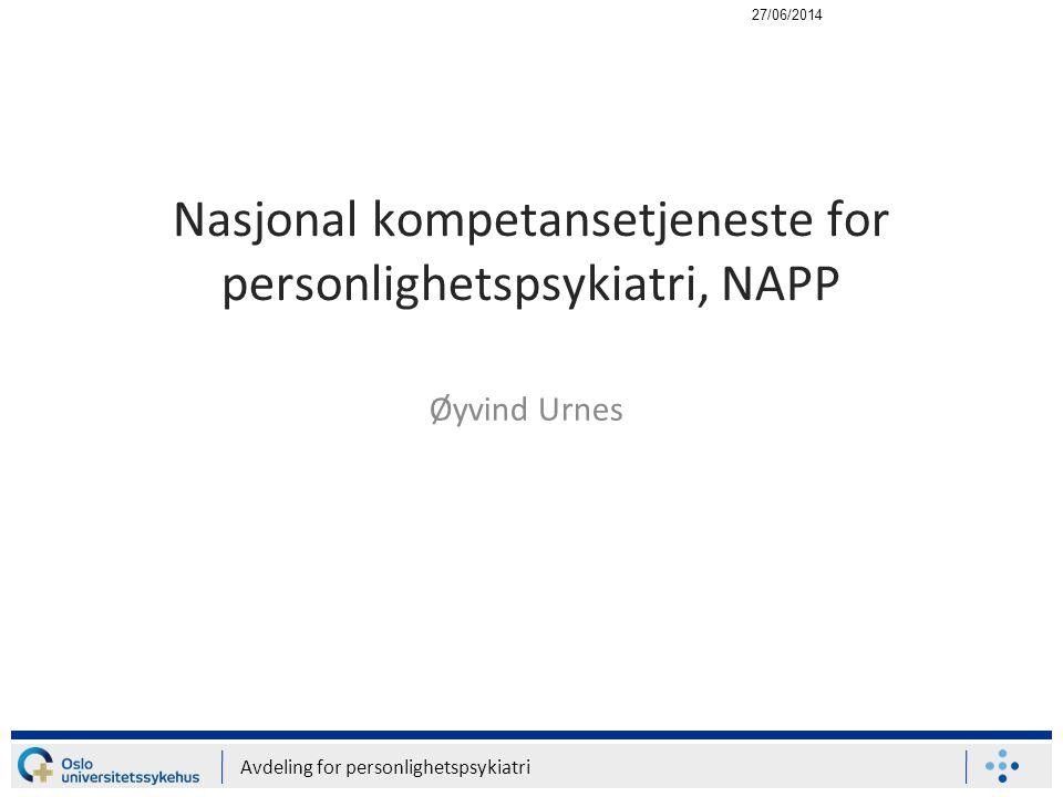 Nasjonal kompetansetjeneste for personlighetspsykiatri, NAPP