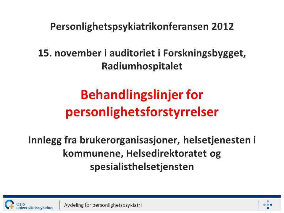 Personlighetspsykiatrikonferansen 2012 15