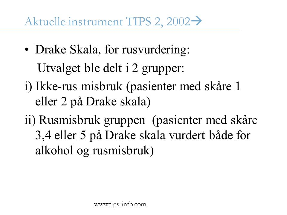 Aktuelle instrument TIPS 2, 2002