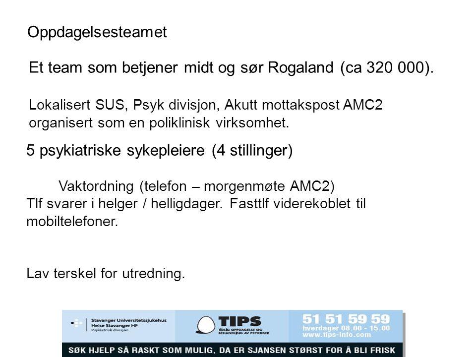 Et team som betjener midt og sør Rogaland (ca 320 000).