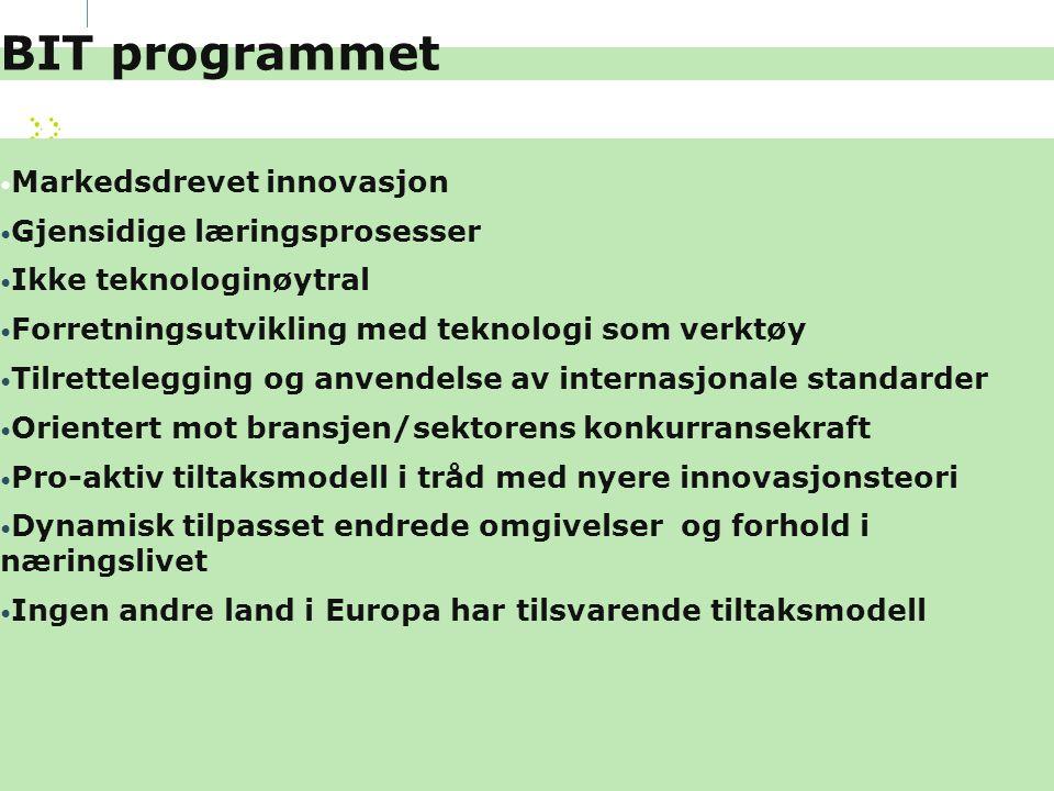 BIT programmet Markedsdrevet innovasjon Gjensidige læringsprosesser