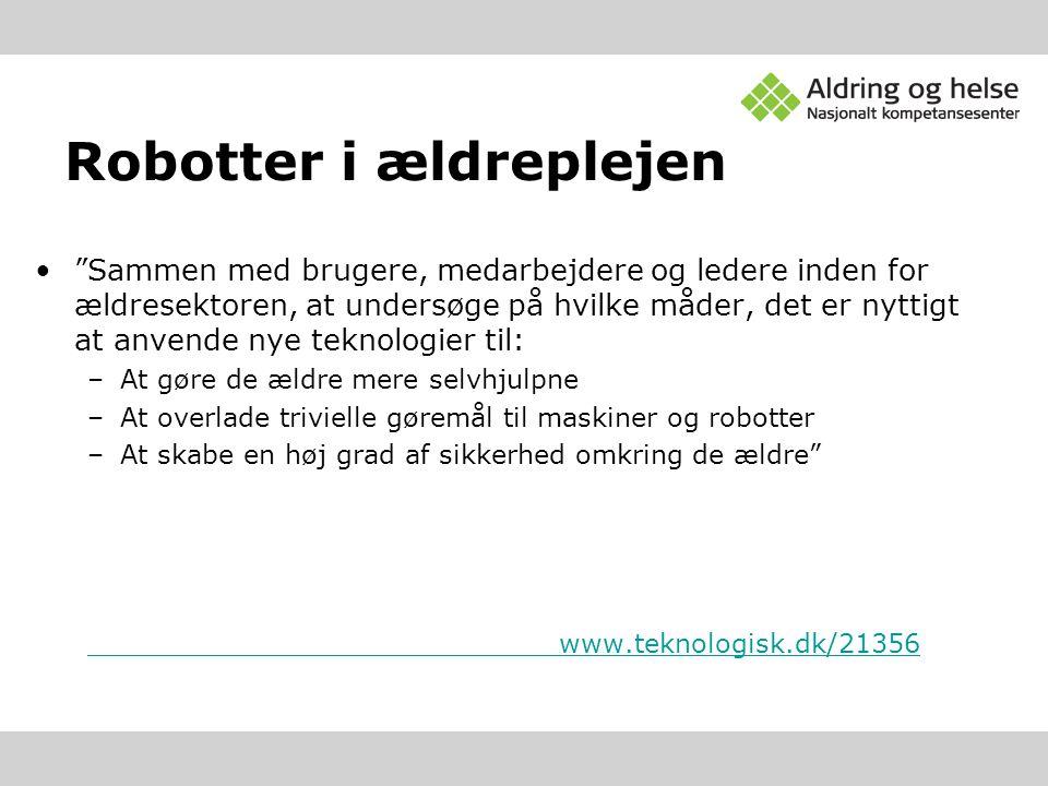 Robotter i ældreplejen