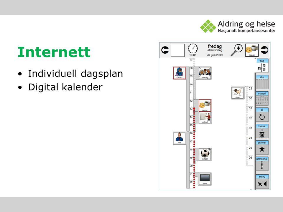 Internett Individuell dagsplan Digital kalender