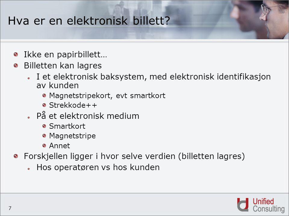 Hva er en elektronisk billett
