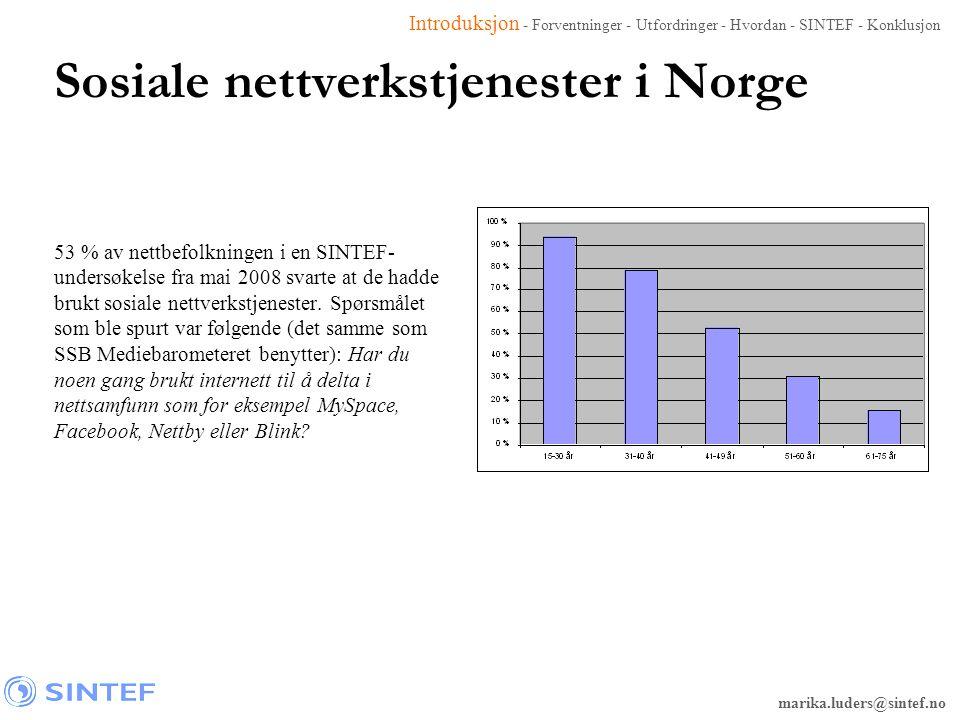 Sosiale nettverkstjenester i Norge