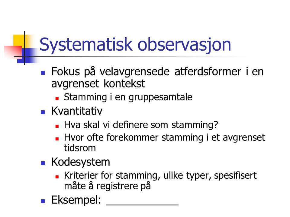 Systematisk observasjon