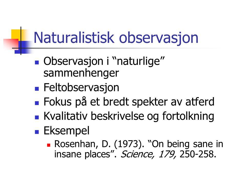 Naturalistisk observasjon
