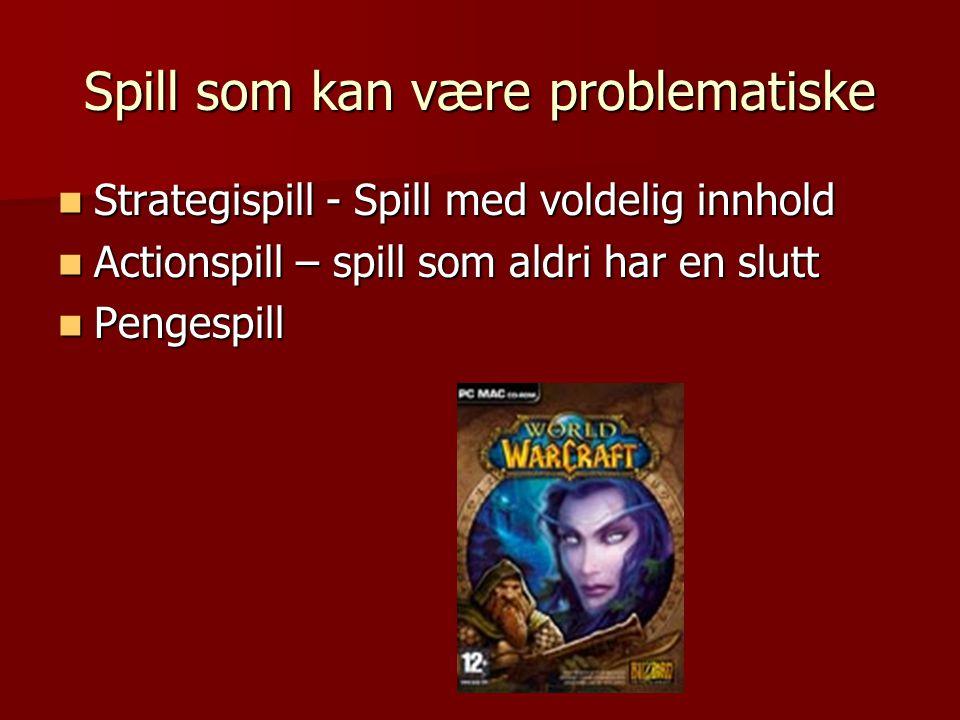 Spill som kan være problematiske