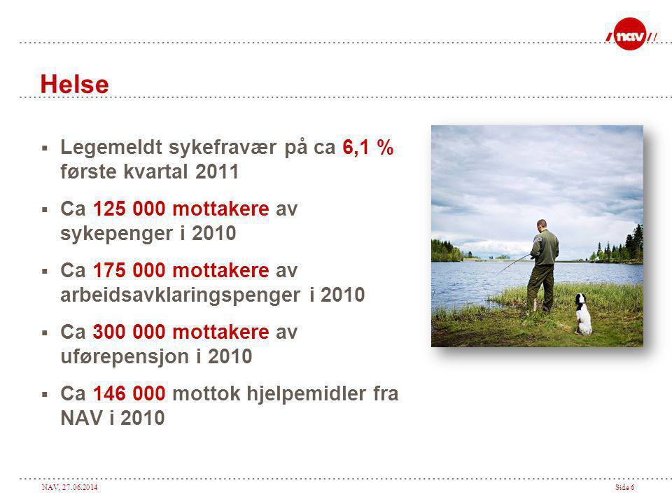 Helse Legemeldt sykefravær på ca 6,1 % første kvartal 2011