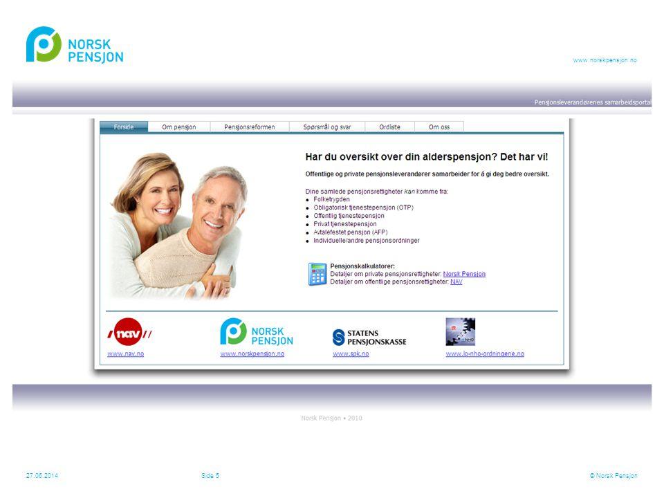 MMI undersøkelse for Norsk Pensjon – 1060 respondenter