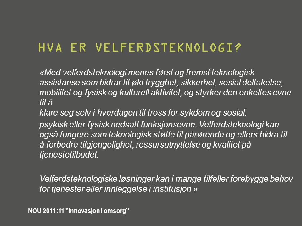 Hva er velferdsteknologi