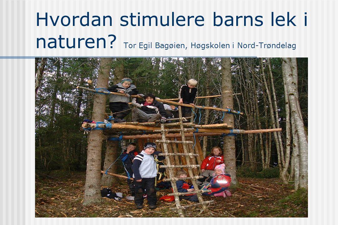 Hvordan stimulere barns lek i naturen