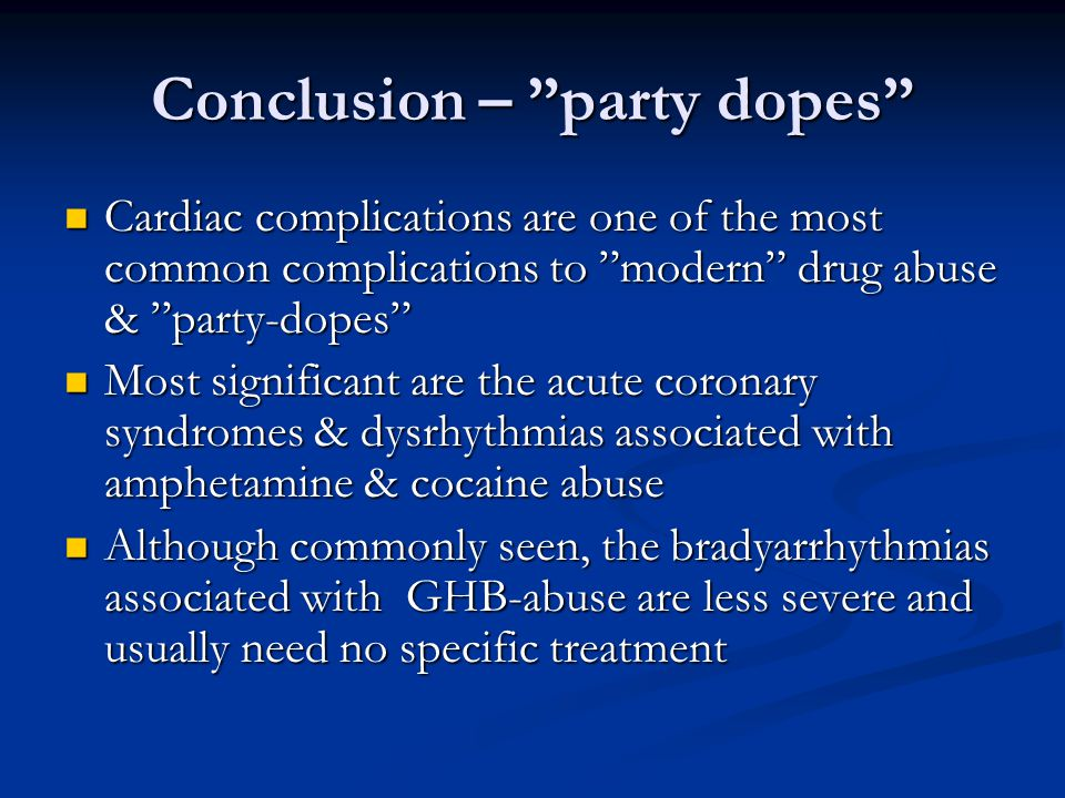 Conclusion – party dopes