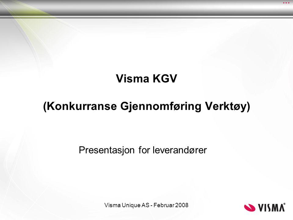 Visma KGV (Konkurranse Gjennomføring Verktøy)