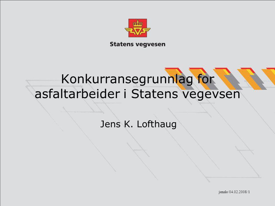 Konkurransegrunnlag for asfaltarbeider i Statens vegevsen